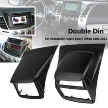 2 Din Radio samochodowe deski rozdzielczej płyta panelu rama DVD CD Dash Dashboard pokrywa dla Mitsubishi Pajero Sport dla Triton L200 2014 tanie tanio Autoleader CN (pochodzenie) Blendy 0 75 Fascias plastic 202x102mm 178x100mm For Mitsubishi Pajero Sport Triton L200 2014