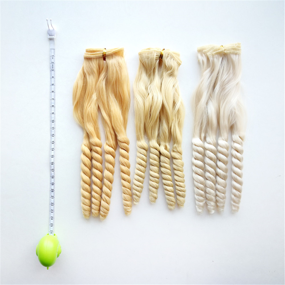 BJD SD Blyth American Wigs Accessories 1pc 20 100cm Synthetic Fiber Curly Natural Color Hair Extensions for Dolls DIY Doll Hairs in Dolls Accessories from Toys Hobbies