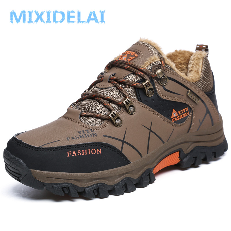 MIXIDELAI Men Winter Boots Fur Warm Snow Boots Men Shoes Adult Casual Outdoor Unisex Sneakers Ankle Boot Rubber Men Boot 47 недорго, оригинальная цена