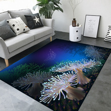 6mm Sea World Printed 3D Carpets Short Plush Cartoon Mat Sofa Rug Pad Living Room Kids Bedroom Carpet Home Decor