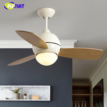 FUMAT, скандинавские потолочные вентиляторы, лампа для гостиной, твердая древесина, Ретро стиль, внутренний потолочный светильник, потолочный светодиодный светильник для гостиной