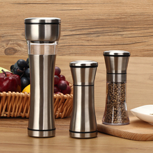 Stainless Steel ABS Pepper Mill Salt Pepper Mill Manual Spice Sauce Grinder Muller Seasoning Condiment Jar Holder Kitchen Tool stainless steel pepper mill manual salt grinder muller kitchen accessories solid condiment grinding bottle kitchen gadgets
