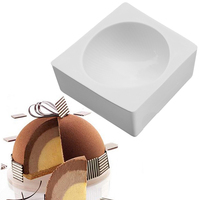 White Big Hemisphere Shaped Silicone Cupcake Desser Mold Cakes Baking Pan