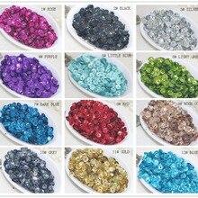 Высокое качество DIY 5 мм блестки лазерные яркие цвета блестки 12 видов цветов x 10 г всего 120 г, можно выбрать цвет
