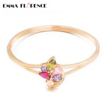Luxury Brand  Lady Bangles AAA Colorful CZ/Crystal Elegant & Fashion Women Jewelry Bracelets & Bangles