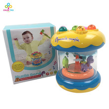 Electric Music Playing Hamster Game Lovely Electronic Plastic Merry-go-round Kids Game Toy