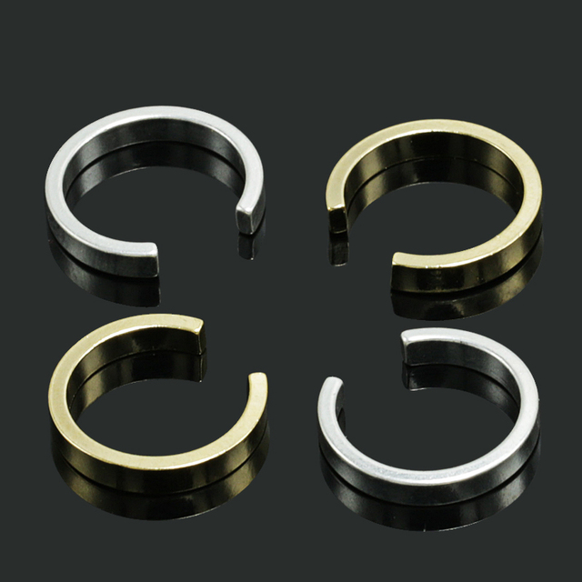 2pcs/lot Gold Silver Color Plated Fake Piercing Cartilage Ear Cuff Clip Earrings for Women Septum Clicker Tragus Earcuffs