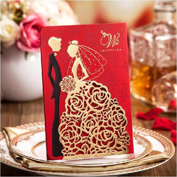 High Class Wedding Invitation Cards 2017 Elegant Laser Cut