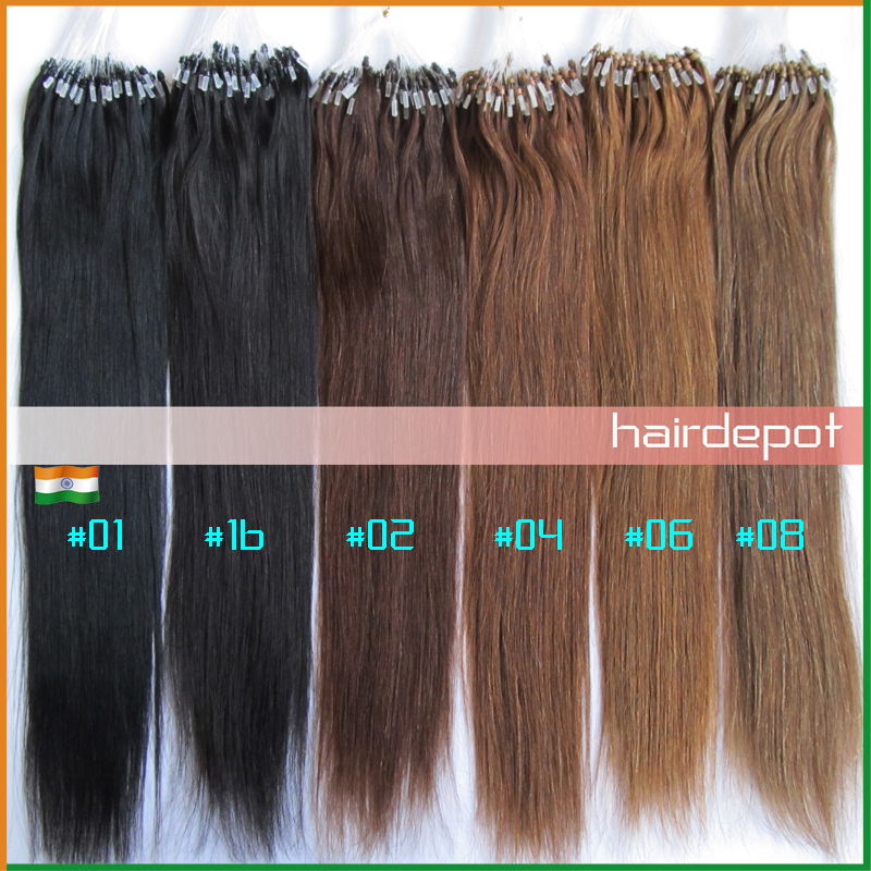 Indian 1618202224 Micro Bead Hair Extensions Human Light Colors