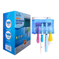 UV Toothbrush Sterilizer Family Pack Intelligence Switch Automatically Sanitizing Kill Germ&Bacteria up to 99.9% YCSG-103AYW