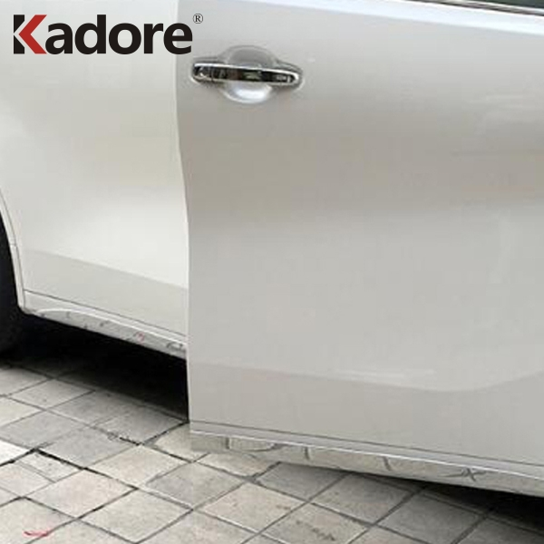ABS Chrome Car Door Body Side Skirt Moulding Trim Styling Decoration Strip For Toyota Alphard Vellfire 2015 2016 2017 2018 4pcs