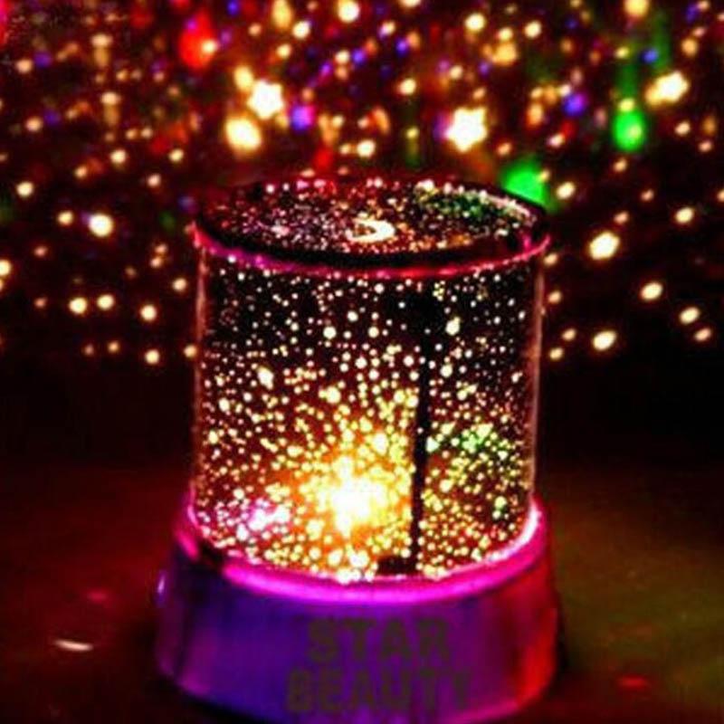 Romantic Star Night Light Kid Children Projector lamp Kid Children Dreamlike Colourful Cosmos Master LED Lamp Christmas gift