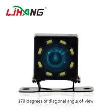 8 светодиодный HD камера заднего вида для автомобиля с ночным видением универсальная HDCCD 170 градусов широкоугольная Автомобильная резервная парковочная камера