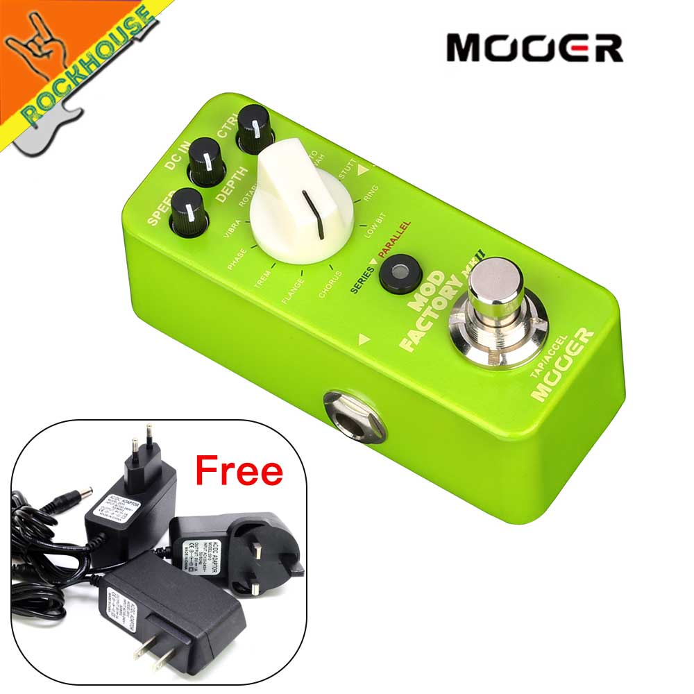 Mooer MOD Factory MKII Digital Modulation Effects Pedal contains 11 algorithms SERIES/PARALLEL routing control Pro TAP TEMPO все цены
