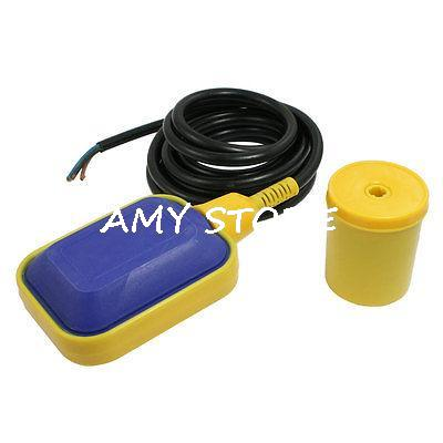 3 Meters Black Cable Water Pump Float Switch Fluid Level Controller AC 250V стоимость