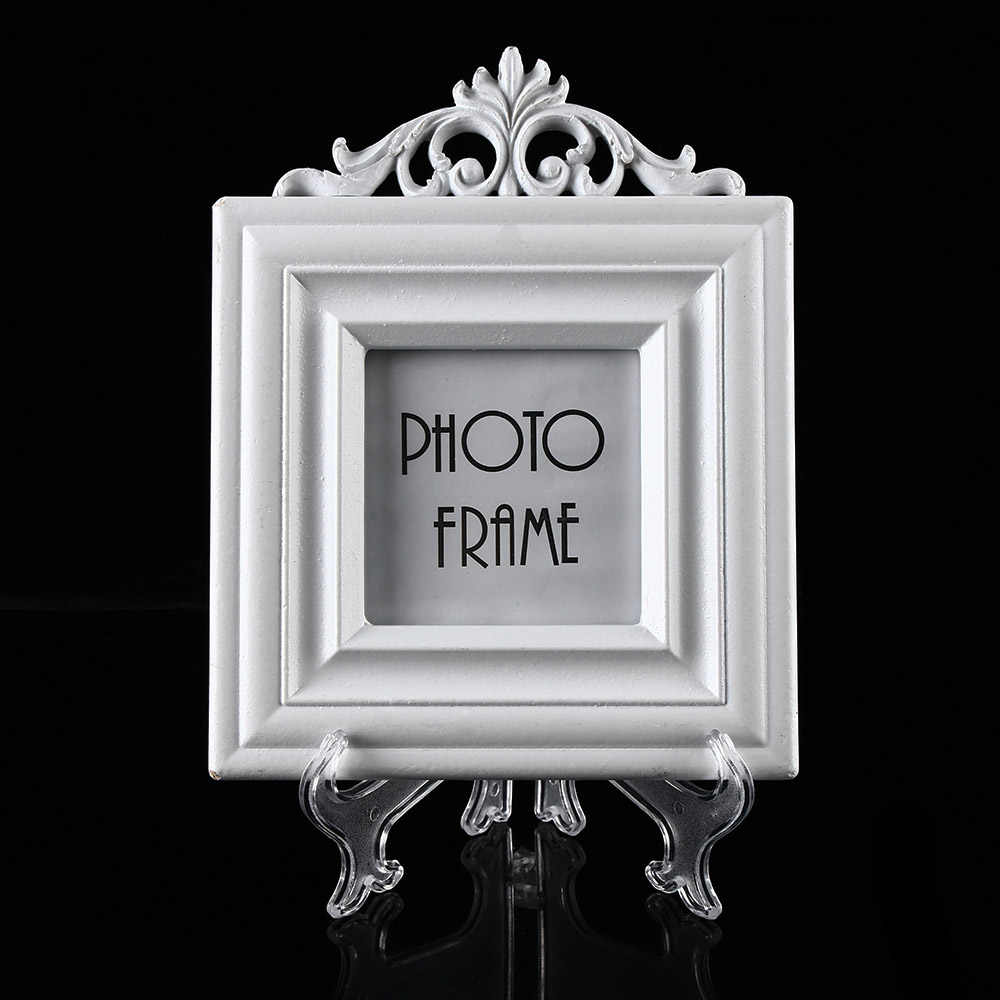 "Clear Transparent Display Stand Picture Frame Easel Plastic Holder 3""5""7""9"" Photo Frame Picture Plate Display Accessories"