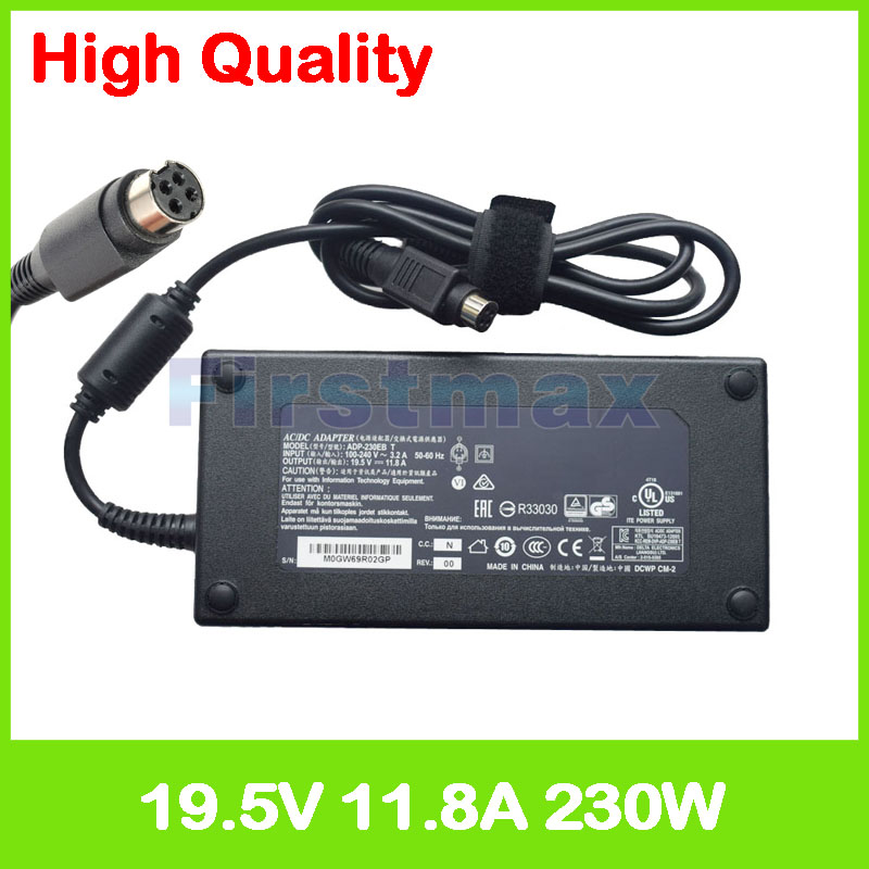Slim 19.5V 11.8A laptop ac adapter charger ADP-230EB T for Clevo D700T D900K D910T M590K M980NU P170HM3 P172SM P175EM P177SM