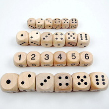 40PCS / Lot Würfel Set, hohe Qualität aus Holz, 6-seitige Punkt / Anzahl Würfel für Club / Party / Familie Spiele