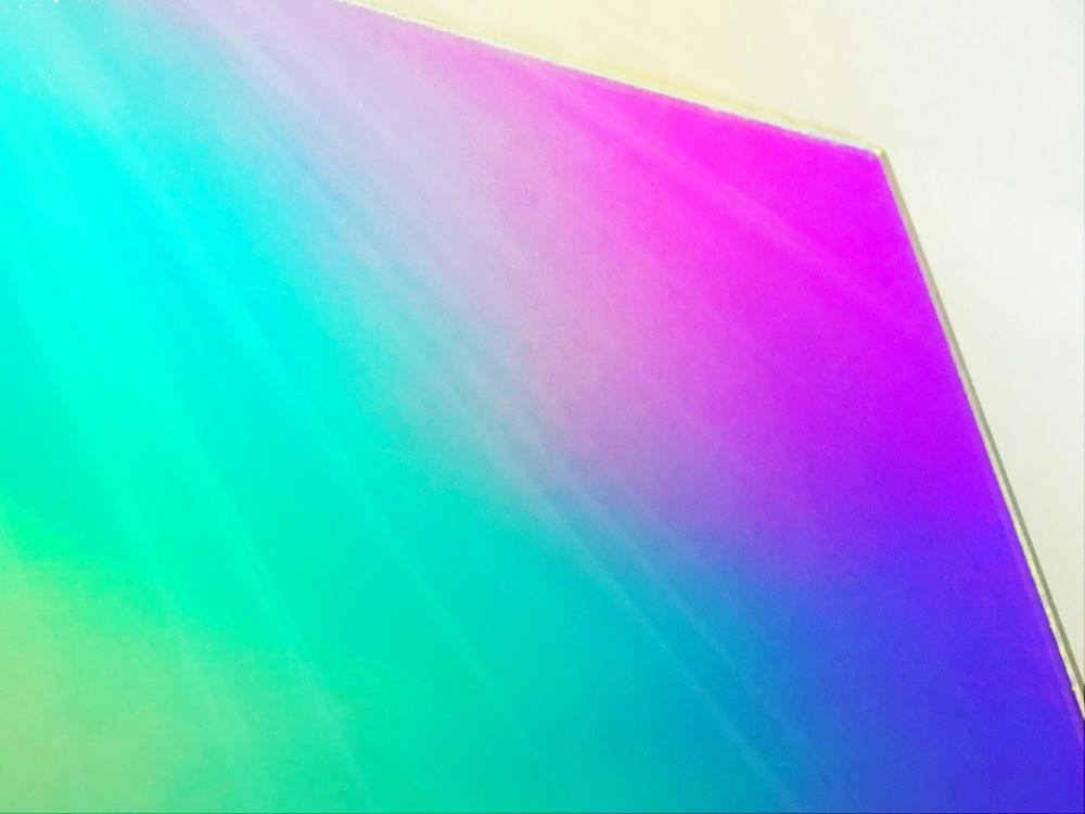 300mm x 300mm x 3 0mm Acrylic PMMA Iridescent Radiant Sheets Two Sides Rainbow Like 4