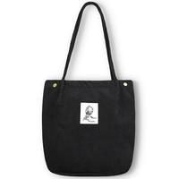 Women Corduroy Canvas Shoulder Bag Female Cotton Cloth Handbag Totes Foldable Reusable Environmental Shopping Bags For Girls Shoulder Bags