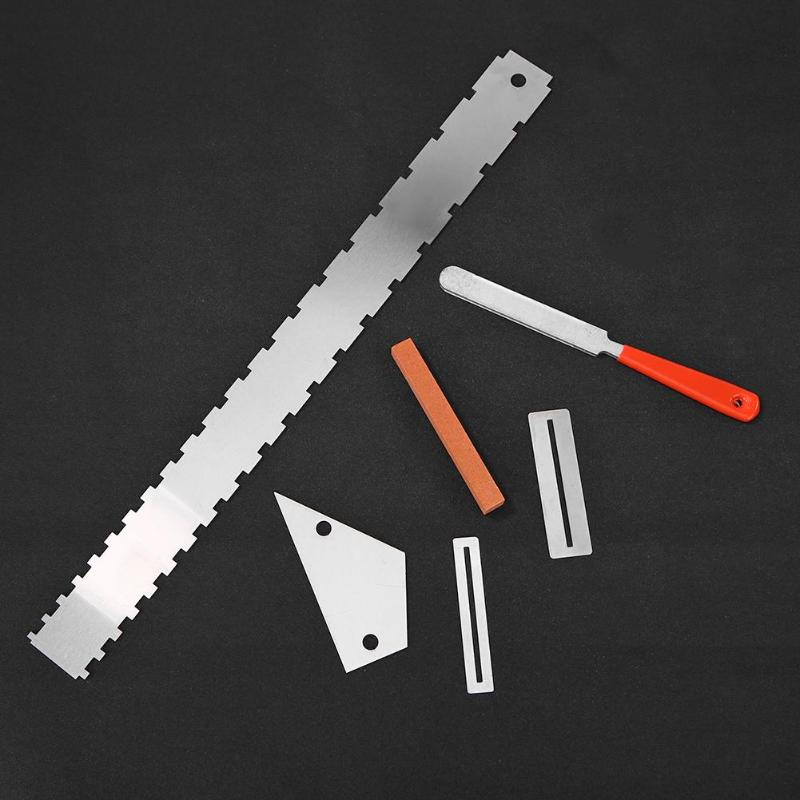 Steel Guitar Fret Repairing Tool Set Silver Cleaning Polish File Protector Guitar Frets Nuts Polished File Grinding Knife Repair