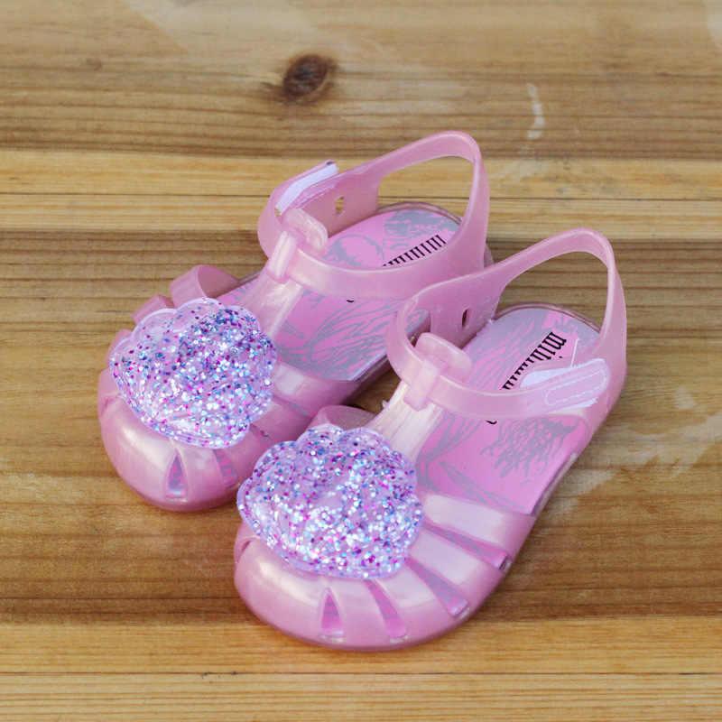 2019 Новое поступление детские силиконовые мини-сумки сандалии для маленьких девочек милые оболочки Детская летняя пляжная обувь Infantil Sandalia ПВХ Baotou