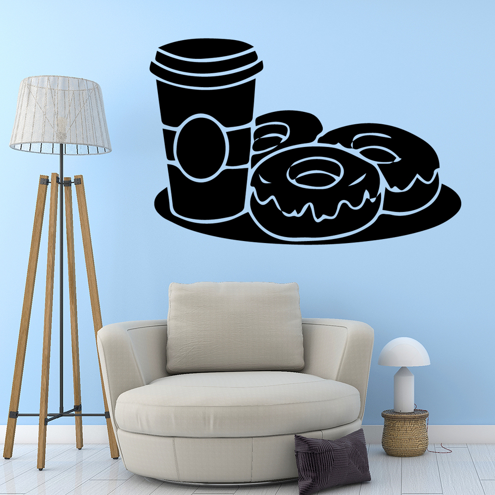 Modern domut Wall Stickers Home Decoration Accessories vinyl Stickers Home Party Decor Wallpaper in Wall Stickers from Home Garden