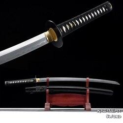 Ручная работа полностью Tang Katana T10 Обработка Стальной глины настоящий самурайский меч на продажу готов к резке бамбука-новое поступление