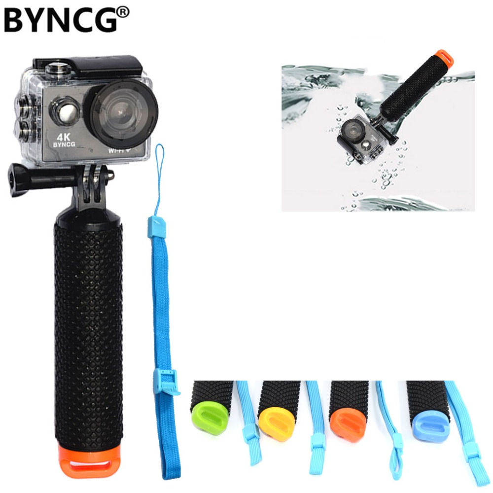 BYNCG Waterproof Floating Hand Grip Handle Mount Float accessories for Gopro Hero 7 6 5 4 3 SJ4000 SJ5000 EKEN H9 F60 xiaomi yi