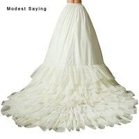 Chất Lượng cao Lót Cho Váy Cưới 2018 Có Thể Tháo Rời Chapel Train Váy Bridal Gowns Wedding Phụ Kiện Khung Làm Cái Vái Phùng Trong Kho