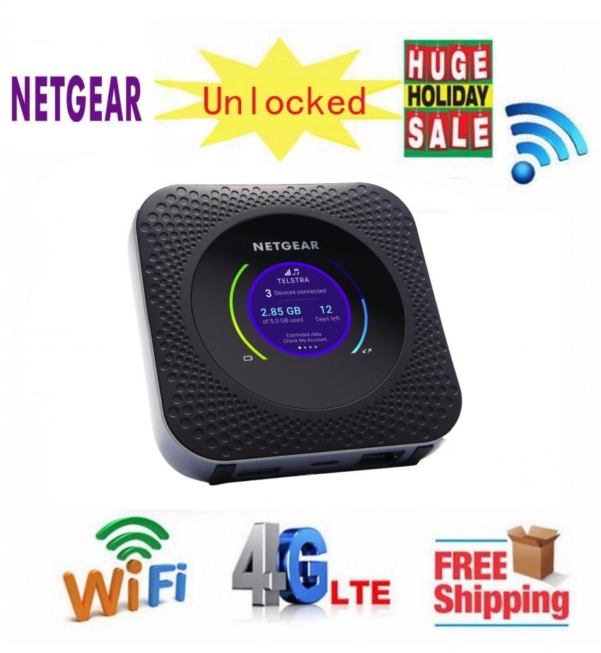 US $304 0 |Unlocked HK Netgear Nighthawk M1 MR1100 LTE CAT16 4GX Gigabit  Mobile Router speeds WLAN LTE Band 1/3/7/8/20/28 /38/40/41-in 3G/4G Routers