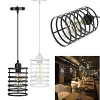 Modern Pendant Light Iron Metal Pendant Lamp Light Fixtures Fashion Living Kitchen Suspension Vintage Hanging Lamp