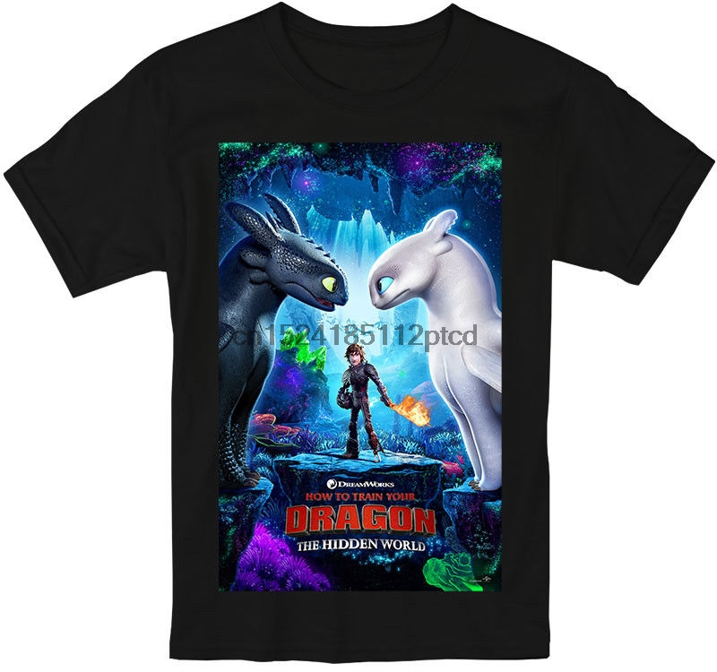 463f0eb77 How To Train Your Dragon The Hidden World 2019 T Shirt Men And Women  Toothless