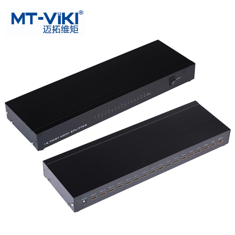 MT-VIKI 16 Port HDMI Splitter Video Sharing Distributor 16 TVs/LCD Monitors Display Same Image 4K 2K 1080P 3D  Maituo SP1016