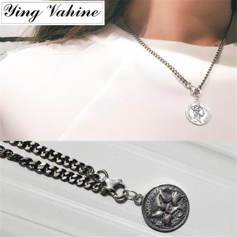 Ying Vahine authentique 925 argent Sterling Original Thai argent Elizabeth lien chaîne collier femmes
