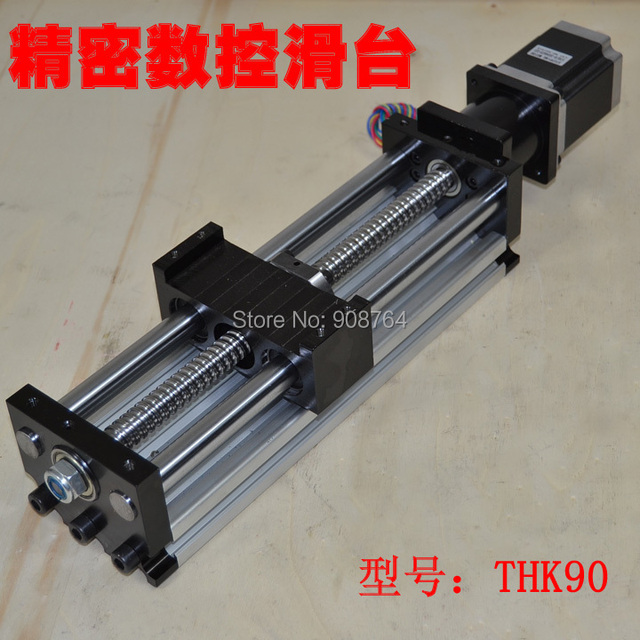 cnc linear slide table stage slider Ball screw Nema23 stepper motor guider travel 300mm heavy load z axis engraving machine