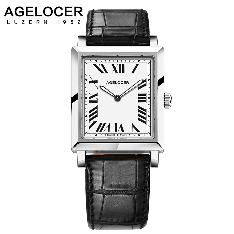 AGELOCER Brand Elegant Retro Watches Women Fashion Luxury Quartz Watch Clock Female Casual Leather Women's Wristwatches elegant design bling diamond sands dial women watches fashion female dress watch rebirth luxury brand leather quartz clock gifts