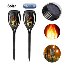 LED Solar Flame Lamp Torch Garden Decoration Light Flickering Lawn Lamps IP65 Waterproof Outdoor Landscape Solar Night Lights 35leds waterproof ip65 outdoor garden led solar light super brightness garden lawn lamp landscape spot lights