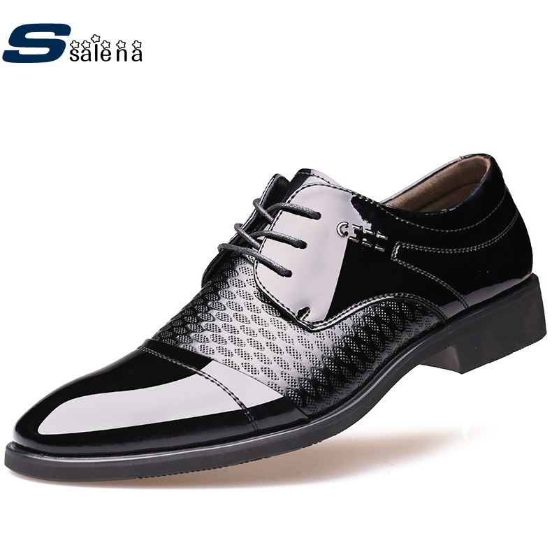 Dress Shoes Men High Quality Lace-Up Party And Wedding Men Flats Light Brand Shoes AA40205