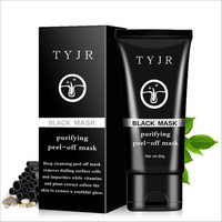 50g TYJR Activated Carbon Pore Strip Black Mask Blackhead Peeling Acne Remover Nose Mask Treatment Black