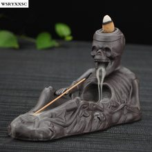 Skeleton Pour Incense Burner, Zisha Ceramic Aroma Furnace, Halloween Creative Decoration, Creative Home Decoration
