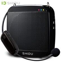 SHIDU S613 kablosuz taşınabilir ses amplifikatörü UHF Mini ses hoparlör USB Lautsprecher öğretmenler için Tourrist kılavuz Yoga eğitmeni