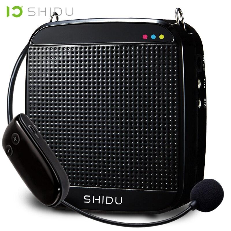 SHIDU Wireless Portable Voice Amplifier UHF Mini Audio Speaker USB Lautsprecher For Teachers Tourrist Guide Yoga Instructor S613 jojo 2 teachers guide audio cd