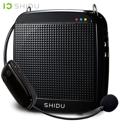 SHIDU Wireless Portable Voice Amplifier UHF Mini Audio Speaker USB Lautsprecher For Teachers Tourrist Guide Yoga Instructor S613