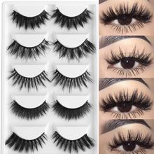 US $2.37 11% OFF|5 Pairs Multipack 3D Soft Mink Hair False Eyelashes Handmade Wispy Fluffy Long Lashes Natural Eye Makeup Tools Faux Eye Lashes-in False Eyelashes from Beauty & Health on Aliexpress.com | Alibaba Group