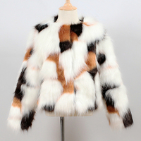 Girls Faux Fur Coat Jacket Short Kids Baby Girls Thick Warm Outwear Children Fashion Clothes Fake