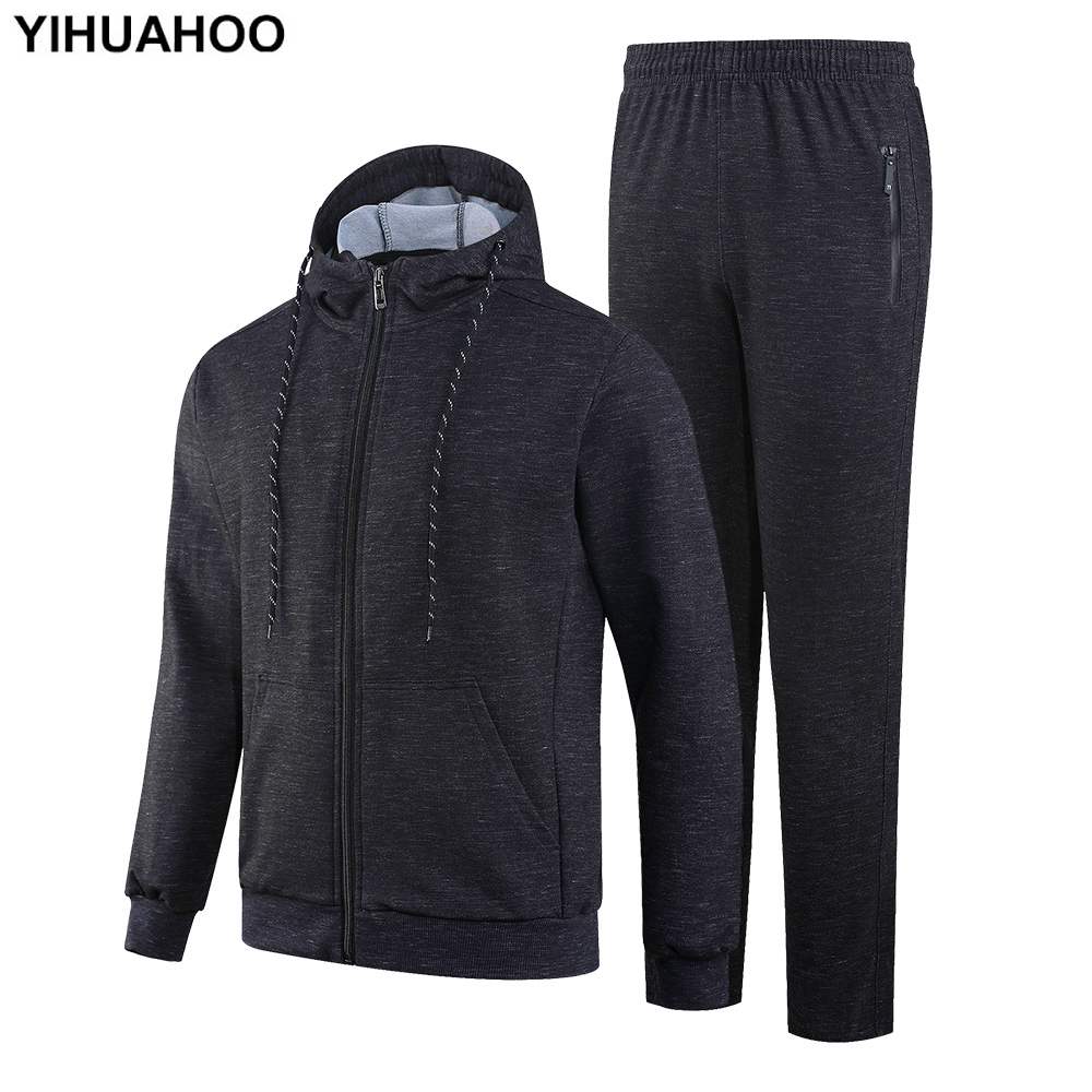 YIHUAHOO Tracksuit Men Winter Autumn Clothing Set 2PCS Jacket And Pants Two-Piece Sweatpants Sportswear Track Suit Man KSV-TZ070