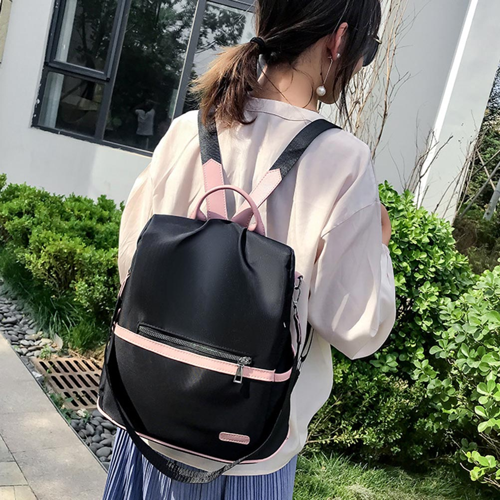 Image 2 - 2019 Women Simple Lightweight Anti theft Backpack Oxford Cloth Waterproof Shoulder Bag Female Travel laptop backpack-in Backpacks from Luggage & Bags