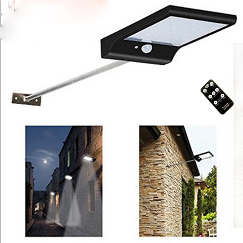 1pcs Solar energy lamp human body induction lamp outdoor courtyard lamp integrated 36LED belt street lamp outdoor light solar lighting led super bright household outdoor waterproof courtyard body induction courtyard body sens lamp