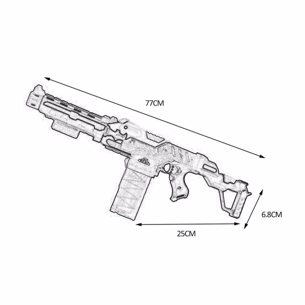 Armas de Brinquedo adequado para nerf gun toy Feature : The Products Adopts Assembly Design, The Design is Reasonable